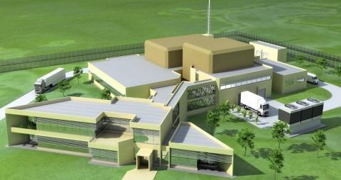 (3D Rendering of proposed     Coqui RadioPharmaceuticals manufacturing facility)