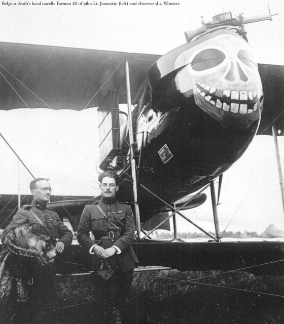 A Belgian Farman F40; source: http://on-the-step.com/aircraft-nose-art/