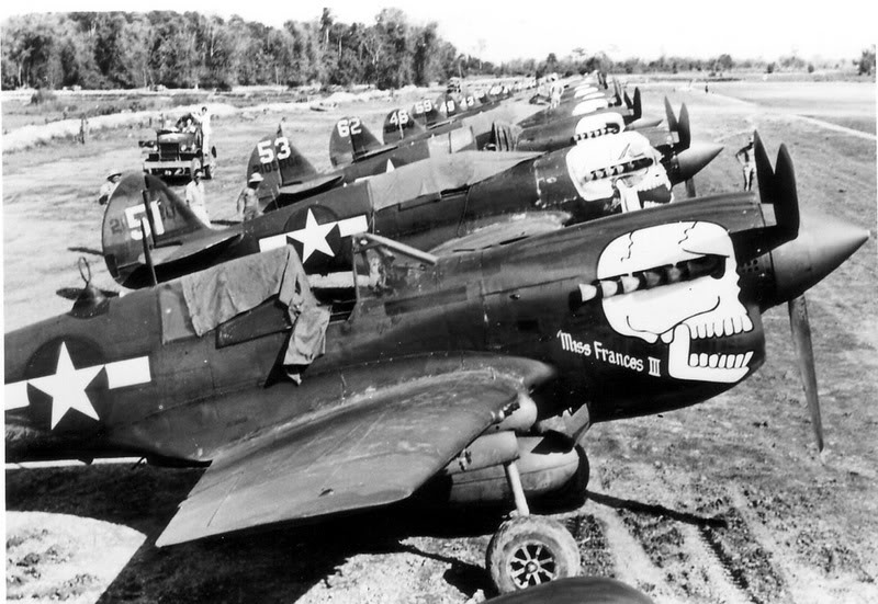 Non-sharked out P-40s