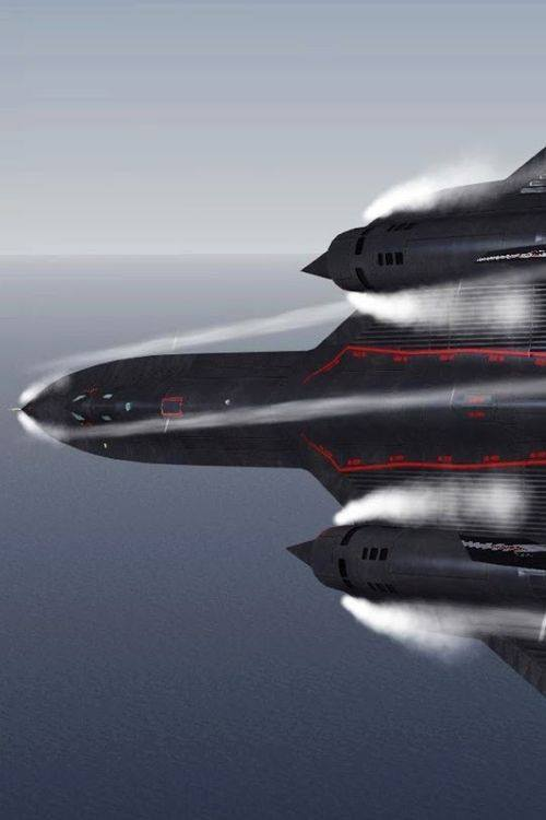 Vapor cloud forms around an SR-71 Blackbird near Mach 1 (which is still first gear for a Blackbird)