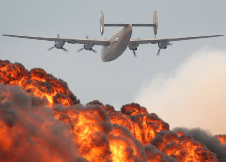 B-24 Liberator/airshow pyrotechnics