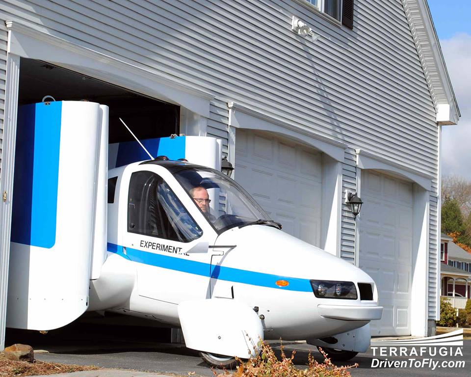 The base model Terrafugia flying car, out in 2014: $279,000--includes leather seats!