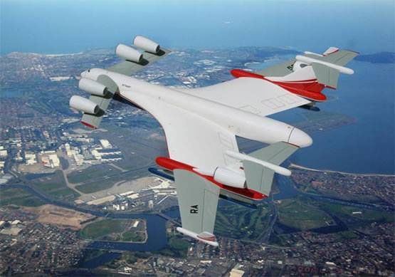 With a wingspan of 125 meters (exactly twice that of a 747), the forthcoming Be-2500 will be by far the biggest plane ever to fly. If it gets off the ground.