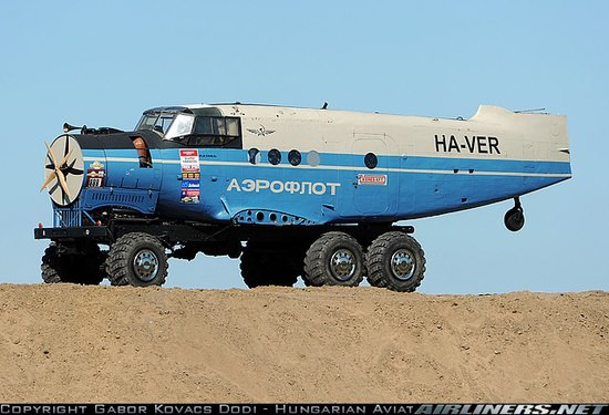 Crap. This just in from Pravda: the Russians have beaten us to the flying car.