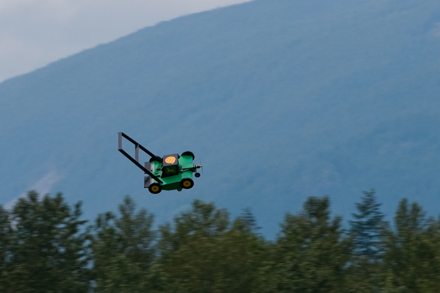 how to build a flying lawnmower