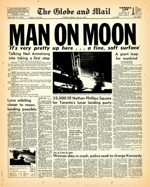 moon landing paper