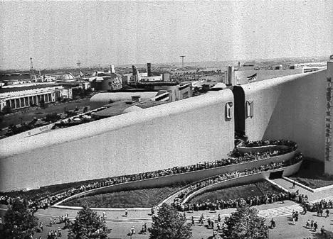 Bel Geddes's 1939 World's Fair pavilion