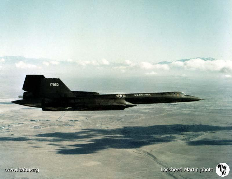 The first SR-71 produced, flown solo by Lockheed test pilot Bob Gilliland on Dec. 22, 1964. Source:  habu.org