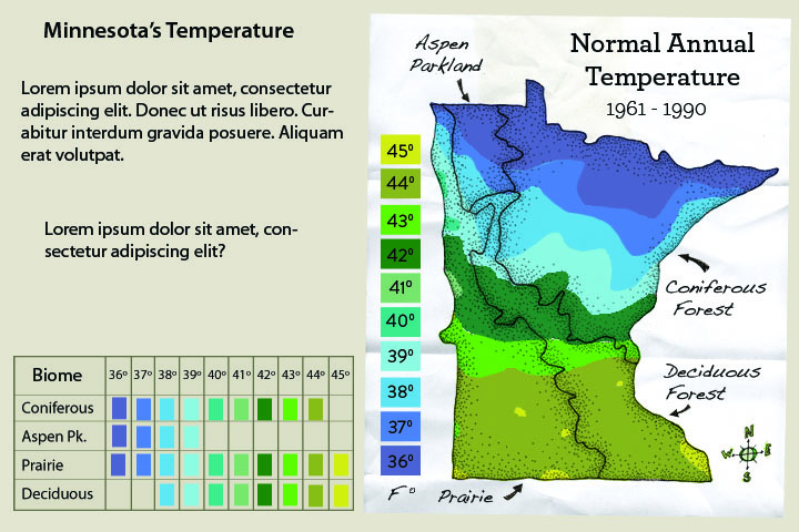 Minnesota's Changing Climate Multimedia Classroom - Interactive temperature map