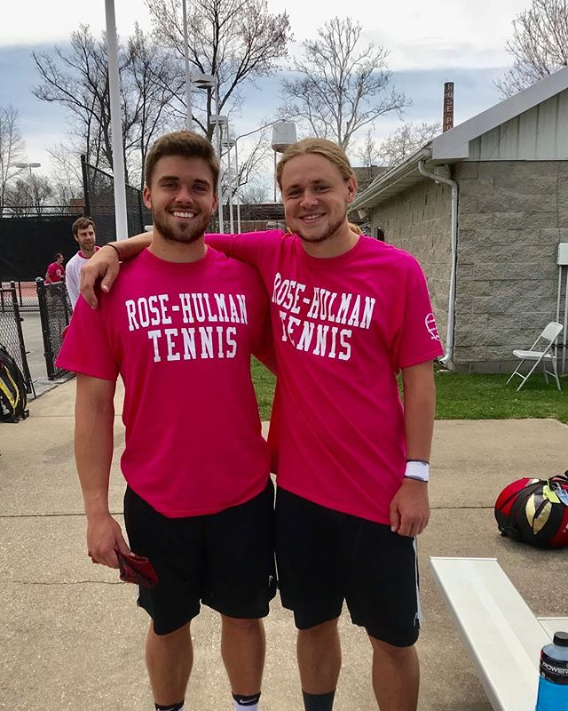 Last home match for seniors Brendan and Cam!