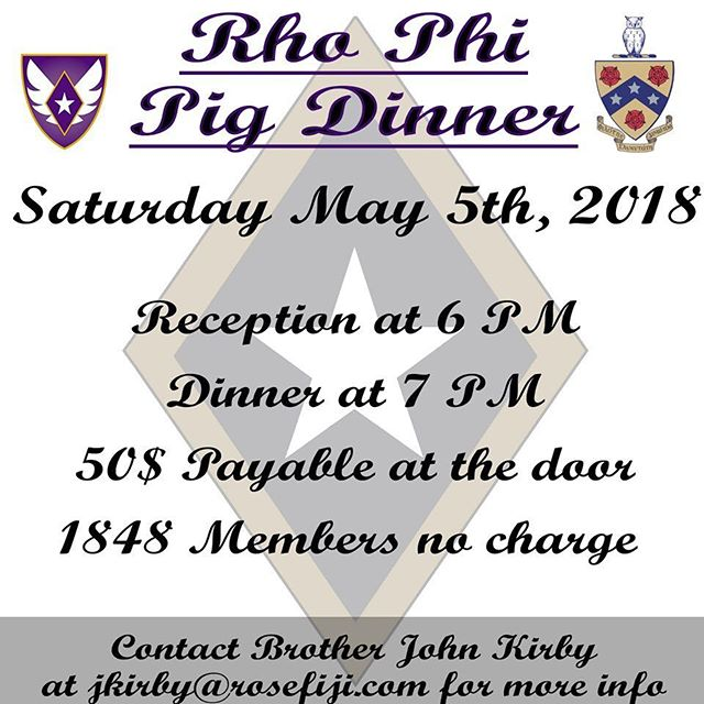 Hey grad brothers, come join us for Pig Dinner!