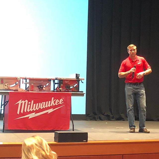 Great to have former President, Jake Whitacre back on campus. He did a great job representing Fiji, Rose-Hulman, and of course that red power tool company!