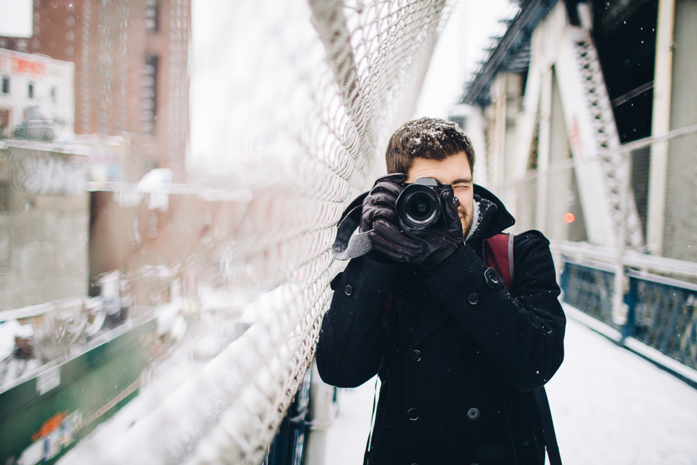 Jonathan Grado in Williamsburg Snow