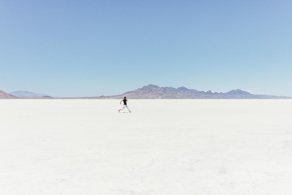 Jonathan Grado at Bonneville Salt Flats