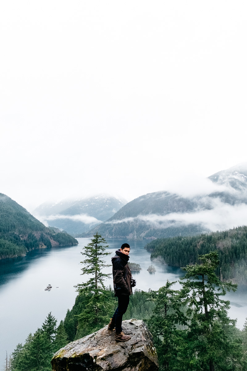 Vincent Carabeo In North Cascades and Diablo Lake