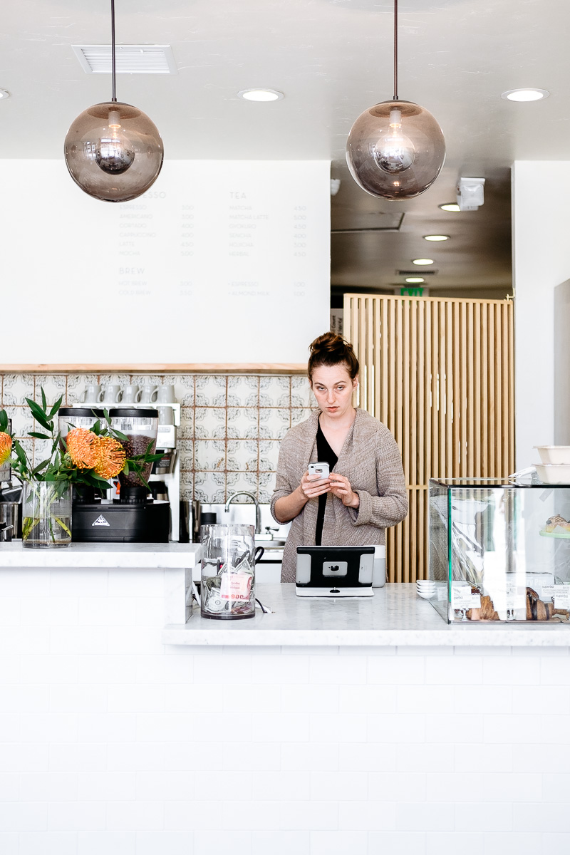 Barista at Eightfold Coffee