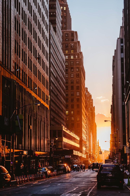 Sunset on 39th Street
