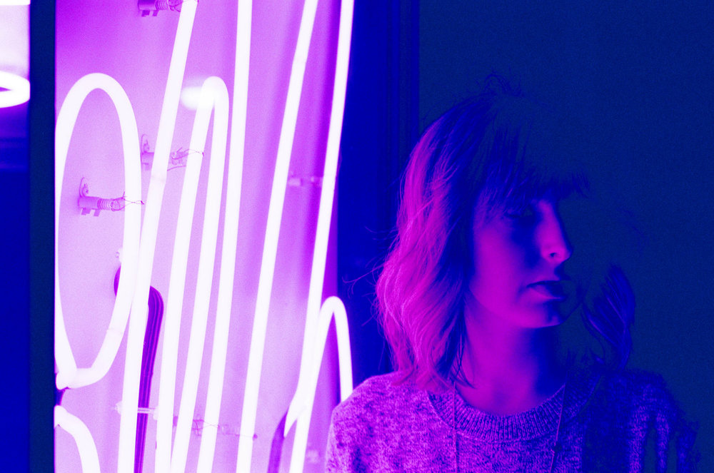 Neon Light Film Portrait of Tia Meyers