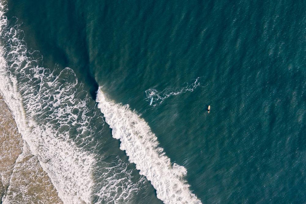 Surfers in Long Beach Island