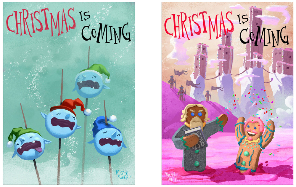 """Game of Presents""Christmas Cards"