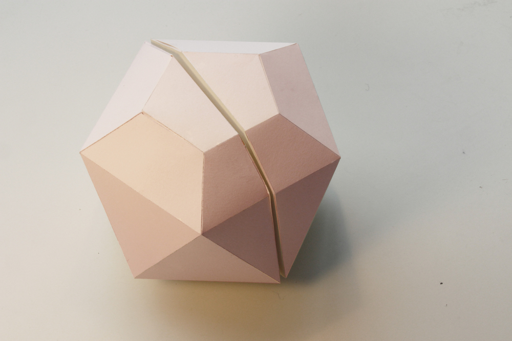 Remove the upper and lower part of an icosahedron.