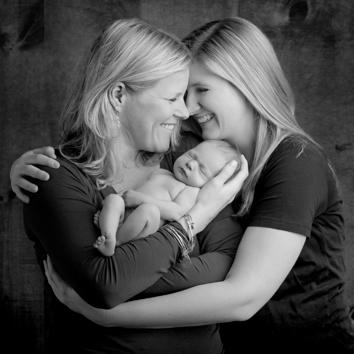 same-sex newborn portrait