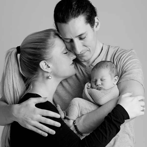 happy family newborn photography
