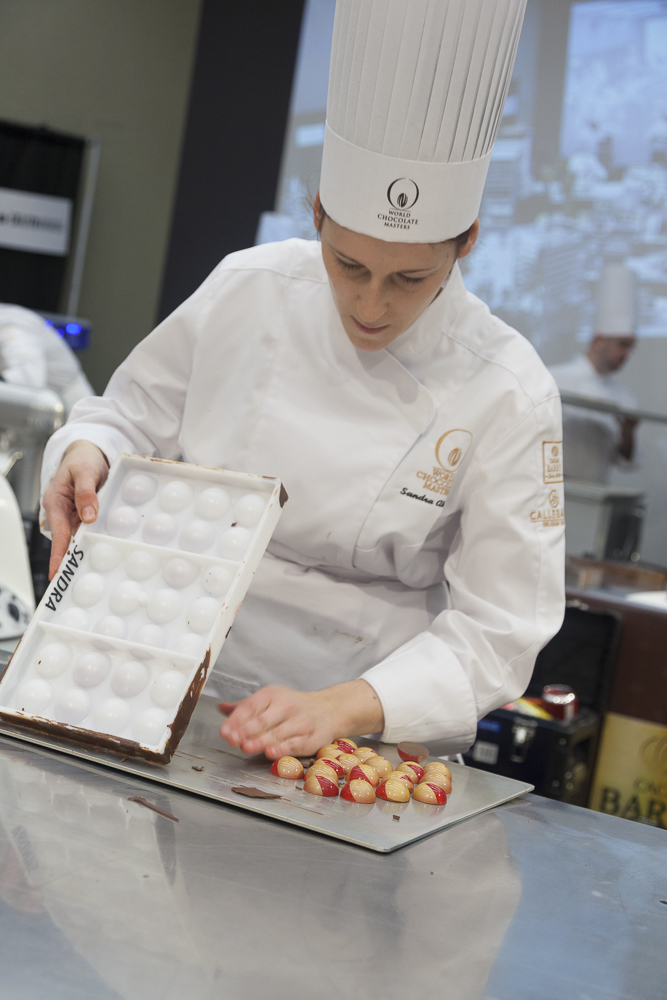 Sandra preparing her Bon Bons for the Judges