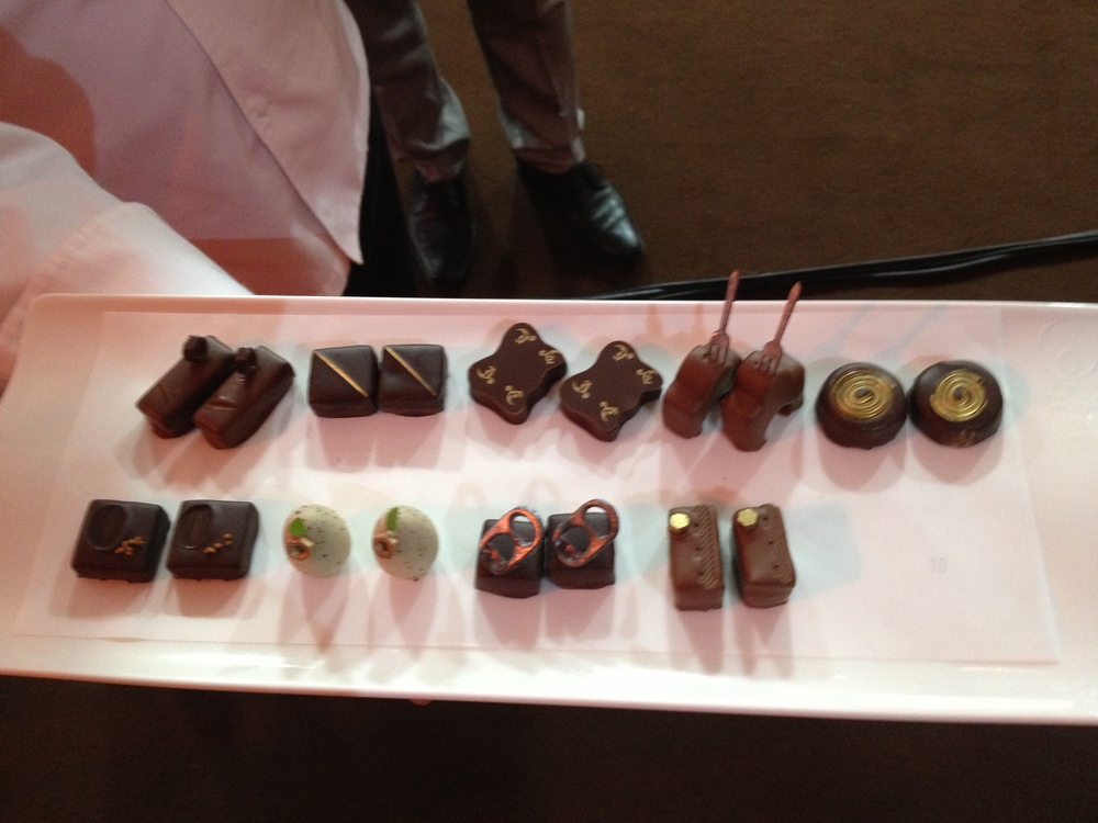 A selection of the Hand Dipped Praline at the WCM Finals 2013