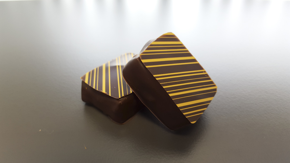 Orange - 34% Belgium chocolate infused with natural orange extract and all-spice