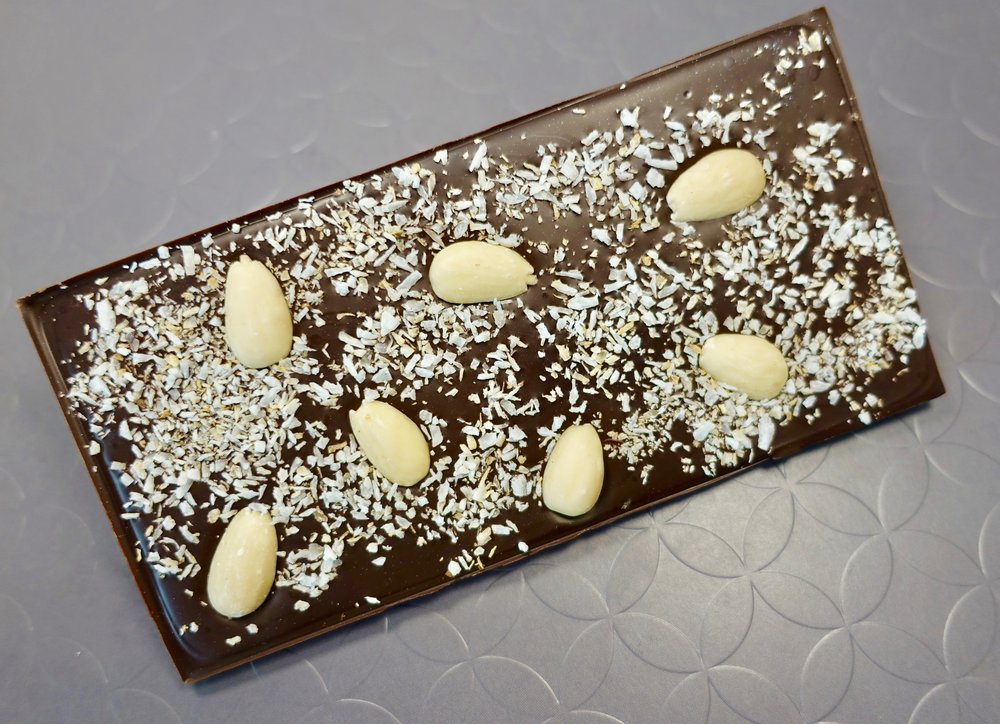 74% Plantation Chocolate Bar with Almonds and Toasted Coconut