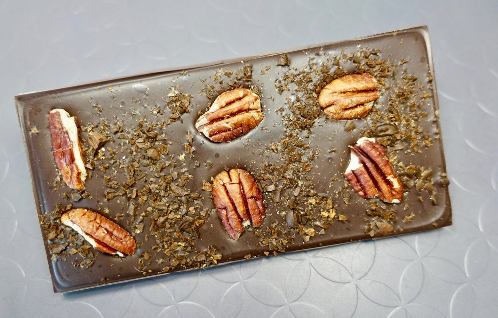 74% Plantation Chocolate Bar with Pecans and Crushed Espresso Beans