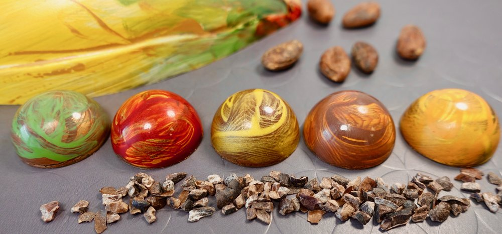 All five flavours and cacao pod - 6.jpg