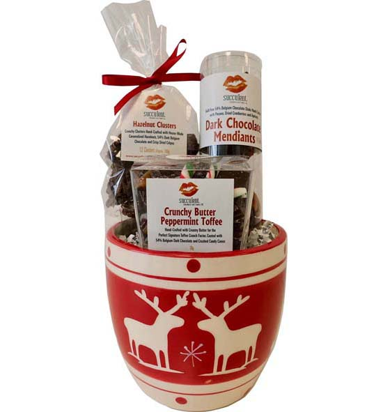 "Chocolate Cravings Bowl - 28.00 H- 16.75"" W- 4.12"" D- 4.12"" The perfect gift for anyone on your list. This ceramic pot is lled with the perfect amount of chocolate that won't make you feel guilty if you don't want to share it!"