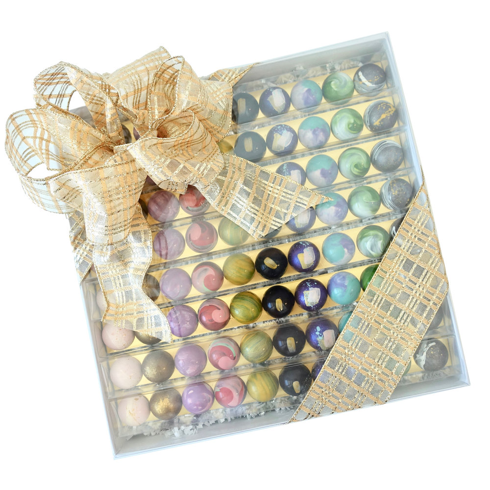 The Ultimate Box of Chocolates  -  Featuring our hand painted, award winning bonbons, this gift is sure to impress!  $165.00