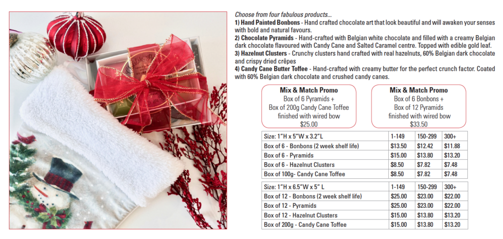 mix and match chocolates and confections holiday gifting