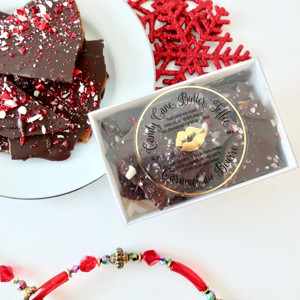 100g Box of Candy Cane Toffee $8.50
