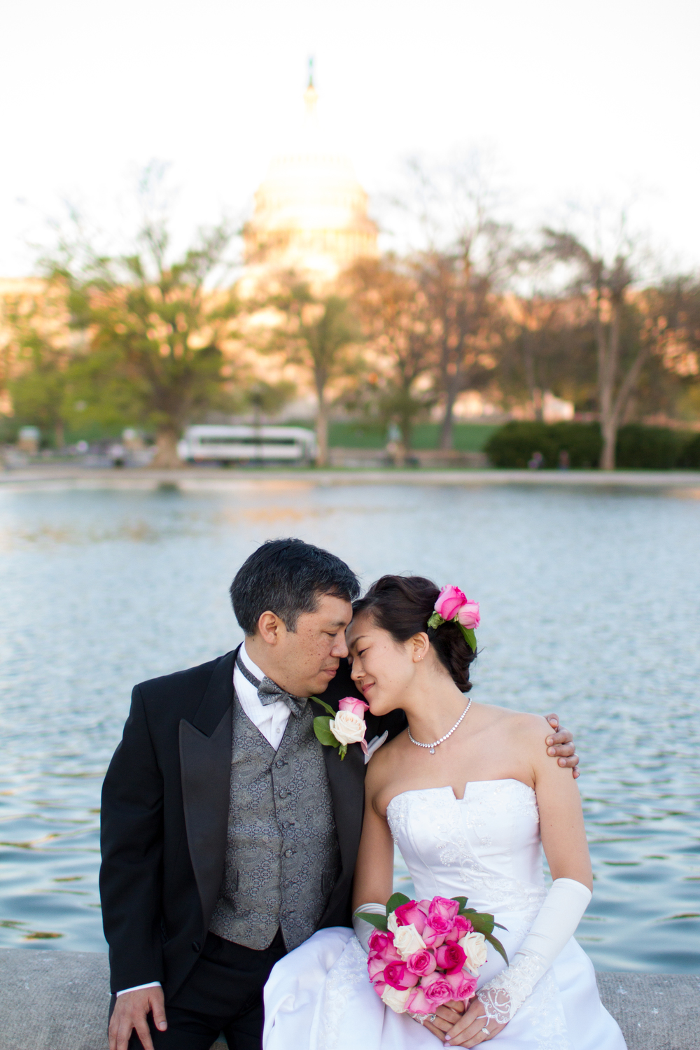 Cherry blossoms spring wedding