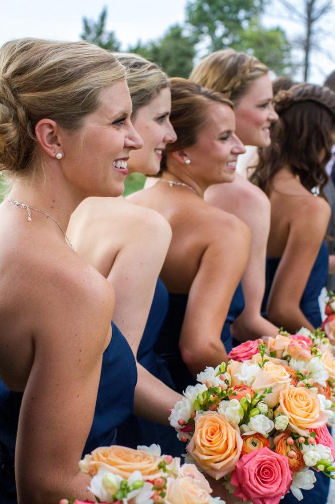 Fall navy bridal party | Haymarket wedding photographer