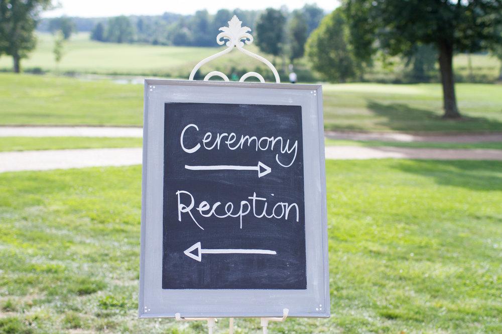 DIY ceremony wedding sign