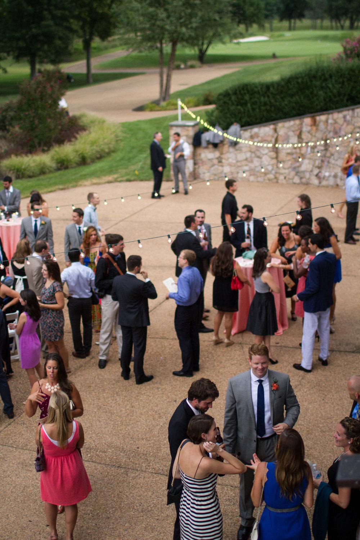 Bull Run Golf Club wedding cocktail hour