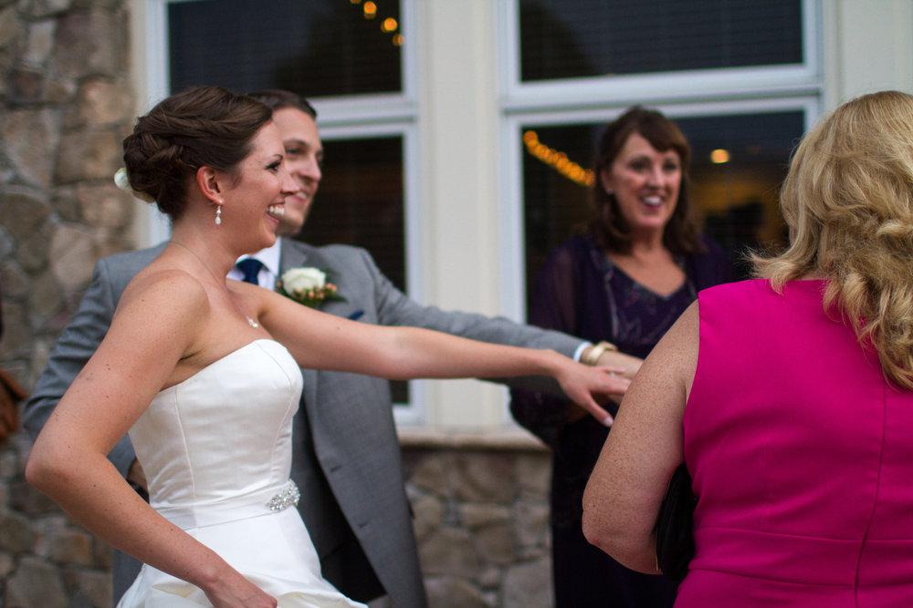 Bride and groom cocktail hour | Haymarket wedding