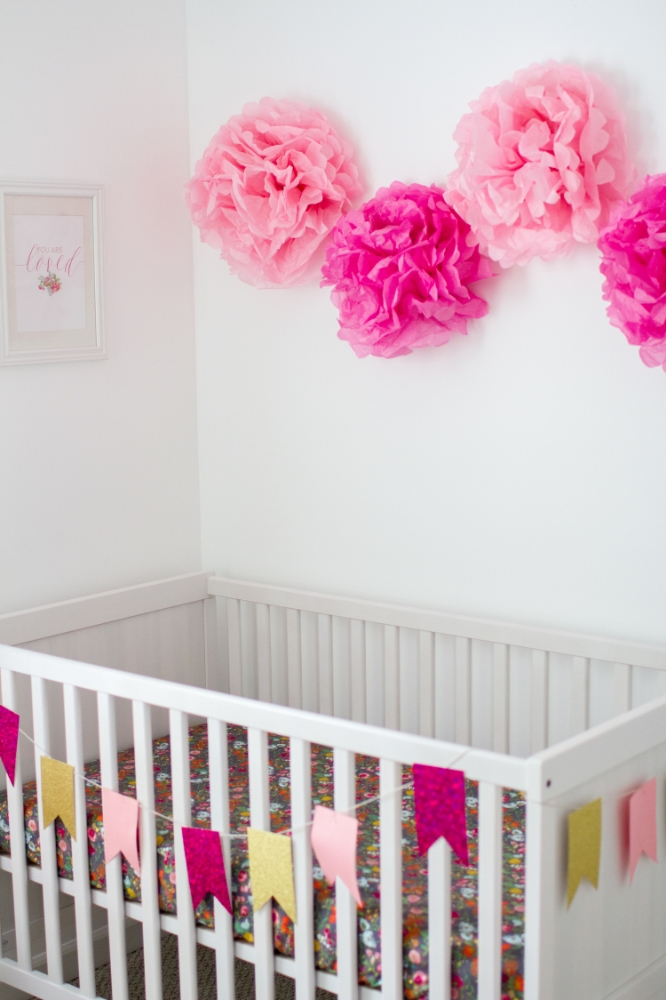 Pink and gold baby girl nursery | Lorin Marie Photography