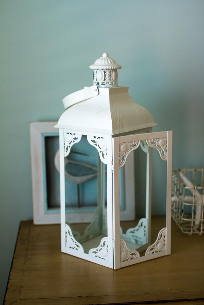 White beach lantern