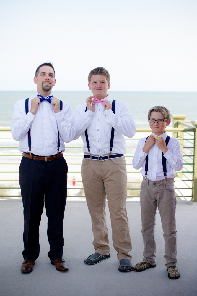 Ring bearers in bow ties
