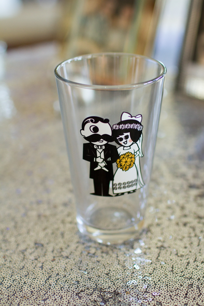 Mrs. Utz drinking glass | Mr. BOH drinking glass