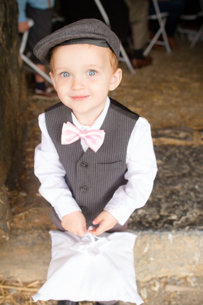 Cute ringbearer | Lorin Marie Photography