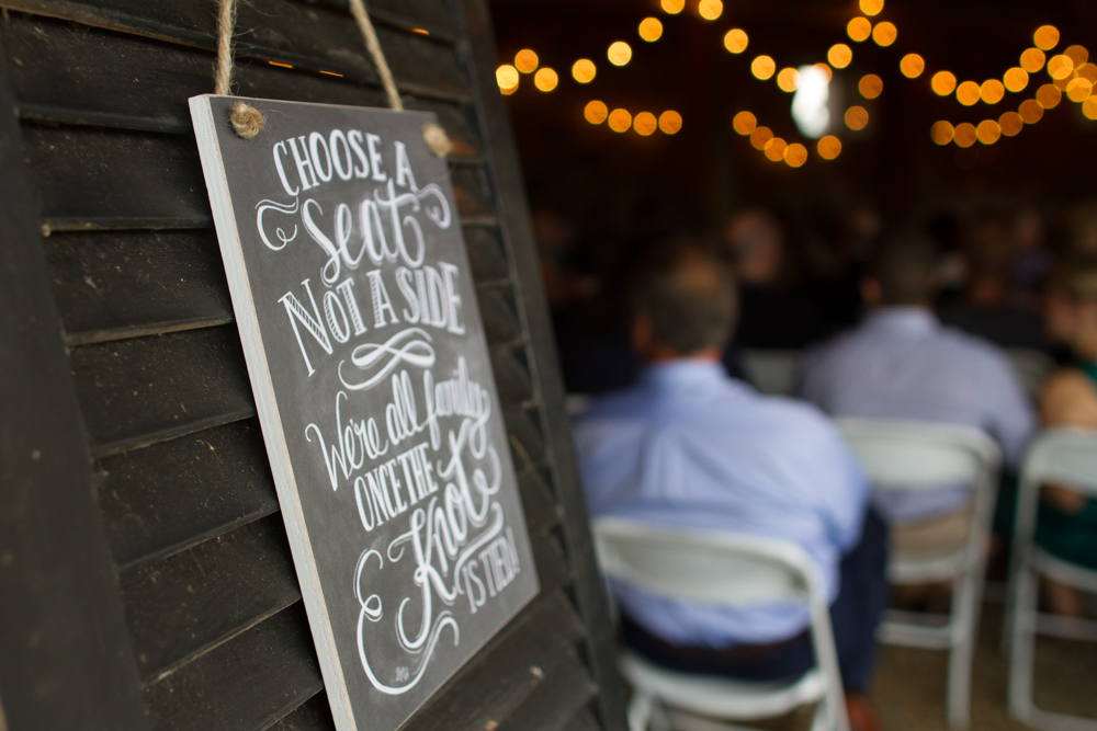 Choose a seat not a side wedding sign  | Lorin Marie Photography