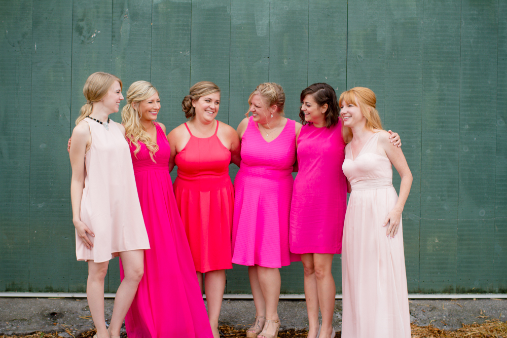 Mix matched bridesmaid dresses | Lorin Marie Photography