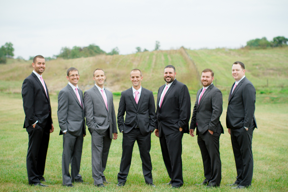 Grey groomsmen suits | Lorin Marie Photography